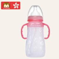 婴儿用 带手柄吸管��� 宽口硅胶奶瓶