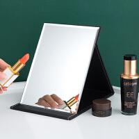 学生宿舍公主镜大小号桌面梳妆镜镜子化妆镜折叠台式便携随身高清