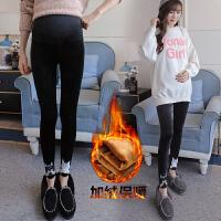 托腹保暖外穿长裤孕妇裤子秋冬季2018新款潮妈外穿打底裤加绒