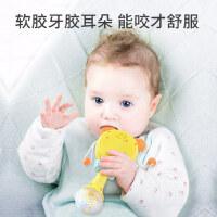 婴儿玩具拨浪鼓可啃咬儿童益智初生宝宝0-1岁波浪鼓手摇鼓音乐棒2