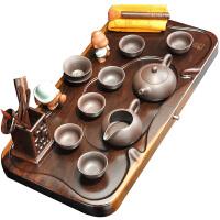 黑檀木实木茶盘茶台紫砂茶壶茶海荼喝茶茶具套装