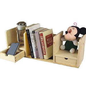 【每满100-50】宜哉 儿童书架 桌上小书架 松木小书架 书立 实木无油漆 带抽屉小书架 开学礼物