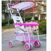 儿童折叠四轮手推车婴幼儿宝宝简易透气轻便夏季遮阳座椅藤椅塑料