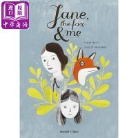 【中商原版】简爱,狐狸与我英文原版Jane, the Fox and Me绘本小说 青春期 青少年成长9-12岁