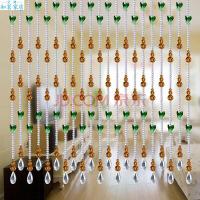 婚庆过道款子式卧室水晶玻璃材料卫生间弧形铜钱屏风八角吊挂阳台窗帘挂帘风水珠帘水