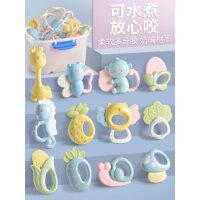 婴儿手摇铃玩具0-1岁益智早教安抚初生宝宝牙胶12幼儿3-6个月抓握