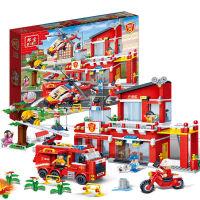 拼插积木玩具拼装小颗粒消防系列积木