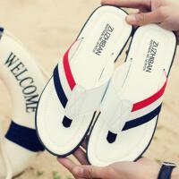 夏季人字拖男士个性外穿海边沙滩鞋子夏天防滑凉拖鞋男潮大码