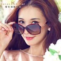 海伦凯勒太阳镜女款 2016新款蝶型金属奢华水晶热情性感款墨镜 我爱你H8520