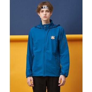 【限时秒杀到手价:256元】paul frank/大嘴猴时尚休闲连帽男式运动单层冲锋衣