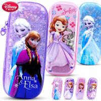 迪士尼笔袋女生女童文具袋小学生女孩儿童公主文具盒多功能铅笔盒