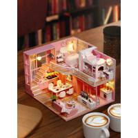 儿童玩具女孩3d立体拼图拼装模型diy小屋手工制作房子益智11 12岁