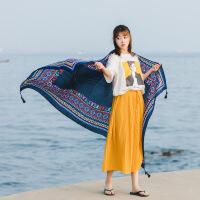 丝巾女海边度假夏季大两用防晒披肩沙滩巾薄长款百变围巾