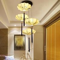 新中式吊灯客厅餐厅灯中国风仿古复古灯笼灯包厢灯楼梯间装饰灯具