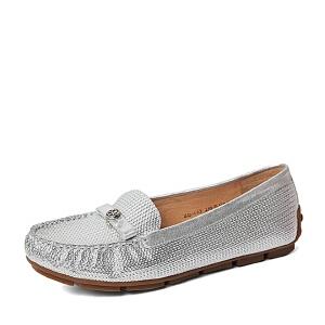 Belle/百丽春季专柜同款压花贴膜山羊皮女单鞋BDM02AQ6
