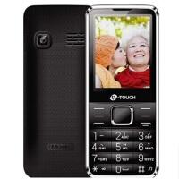 礼品卡 天语T2 老人手机 2.4英寸移动联通双卡直板功能大声音大按键 QQ微信带振动 老人机