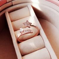 戒指女日韩潮人学生指环个性百搭韩国时尚简约饰品大气网红食指戒