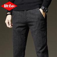 Lee Cooper男士休闲裤秋季款直筒修身男裤小脚裤子男潮流个性商务男式休闲裤
