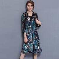 秋装女装秋季妈妈金丝绒连衣裙新款气质高贵冬季套装裙两件套