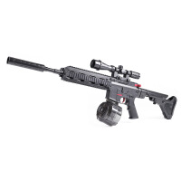 m416突击步抢皮肤手自一体水晶弹儿童绝地求生玩具枪98k模型满配手动连发awm可发射巴雷特m249 M416电动版(