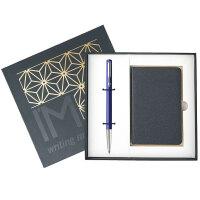 PARKER 派克 威雅蓝色胶杆宝珠笔/签字笔+笔记本礼盒套装 商务礼品