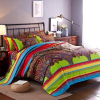 加厚磨毛四件套全棉秋冬1.5m单双人1.8m2.0m床单被套床上用品