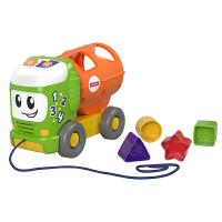费雪 Fisher-Price 声光积木小卡车 儿童宝宝拖拽配对多功能