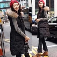 棉衣马甲女士外套冬季新款女装韩版中长款加厚棉衣外套女潮羽绒棉