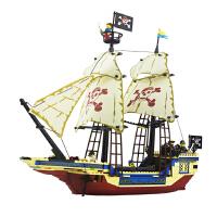儿童6-7-8-10-12岁组装模型玩具海盗船启蒙积木男童小学生