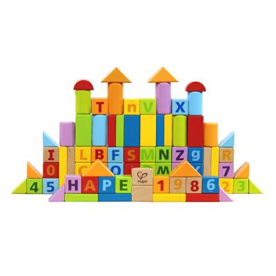 [当当自营]德国Hape 80粒益智积木 欧洲原产榉木 益智玩具 启蒙早教 木质玩具 E8022赠创意相框 赠品部分区域有货,数量有限赠完为止
