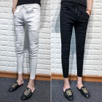 小脚哈伦裤男个性潮流九分裤
