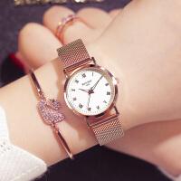 女士手表时尚新款潮流学生简约休闲大气女表情侣手表
