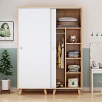 简易衣柜实木质推拉门儿童组装衣橱出租房家用的小卧室经济型柜子