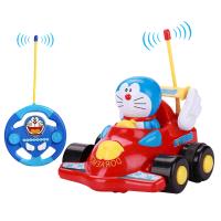 哆啦a梦儿童遥控车 电动遥控汽车玩具车宝宝DM831 红色 官方标配