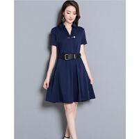 修身连衣裙女夏季夏装新款淑女装收腰显瘦中袖韩版中长款裙子