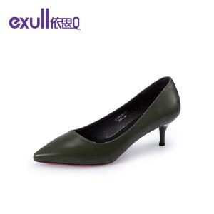 依思q时尚性感浅口凉鞋时尚复古高跟细跟女鞋子