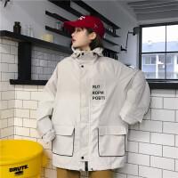 孕妇孕妈工装棒球服外套女2019春季新款韩版f宽松连帽夹克