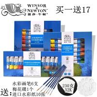 温莎牛顿水彩颜料 24色/18色/12色10ML管装水彩画颜料套装