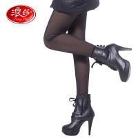 【满199减100】浪莎保暖裤女士羊胎绒双层假透肉踩脚裤加厚加绒打底裤