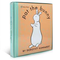 英文原版绘本 Pat the Bunny Deluxe 豪华大开 触摸书 婴幼香味玩具书1-3-5岁 盒装 拍拍小兔子