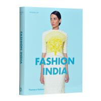【预订】进口原版书 FASHION INDIA,印度时尚 服装服饰设计书