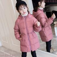 女童羽绒服中长款2018冬季新款女孩白鸭绒中大童加厚修身羽绒外套