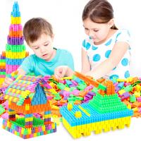 塑料拼插头积木3-6周岁儿童5-7-8男孩女孩拼接火箭头玩具