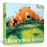 【全店300减100】英文原版Bear's New Friend熊的新朋友吴敏兰推荐早教启蒙纸板书