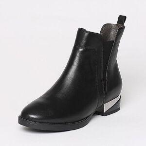 【百丽集团夏季大促,5.28准时开抢】Belle/百丽冬专柜同款牛皮女短靴3C3H9DD6