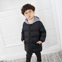 儿童棉衣中长款加厚男童羽绒2018新款女童宝宝棉袄冬装外套潮