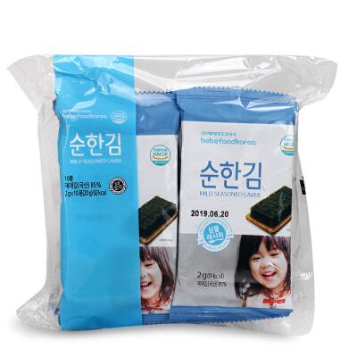 韩国进口 宝宝福德原味海苔 婴儿零食即食海苔韩国海苔宝宝零食