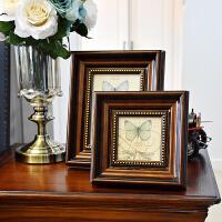 美式摆件 欧式复古相框摆台装饰品美式装饰摆件 创意家居饰品