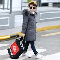 儿童羽绒服男孩子新款冬季童装男童冬装长款加厚加绒中大童羽绒外套