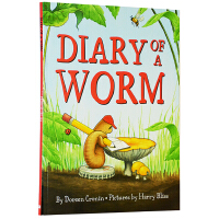 蚯蚓的日记 英文原版绘本 Diary of a Worm 多元化思考 小学阶段绘本图画书 朵琳・克罗宁